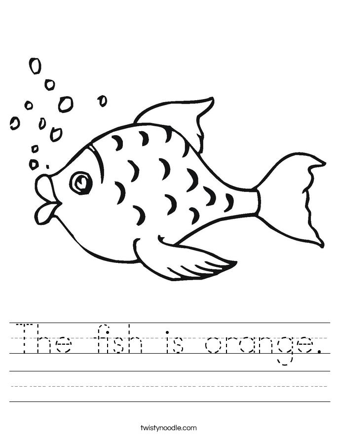 The fish is orange. Worksheet