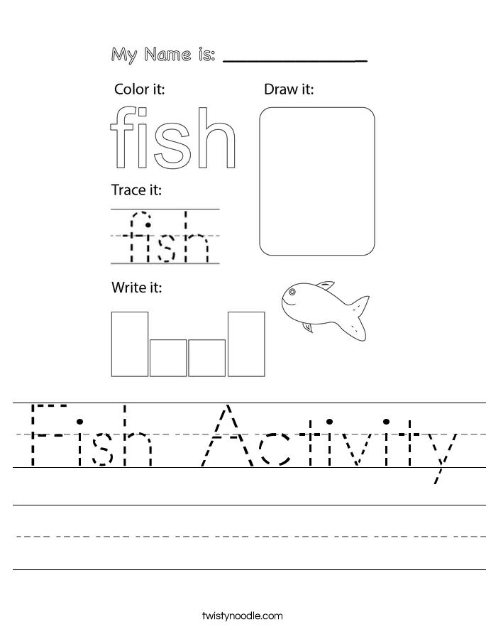 Fish Activity Worksheet