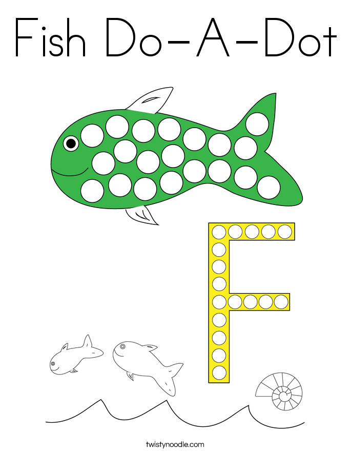Fish Do-A-Dot Coloring Page