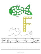 Fish Do-A-Dot Handwriting Sheet