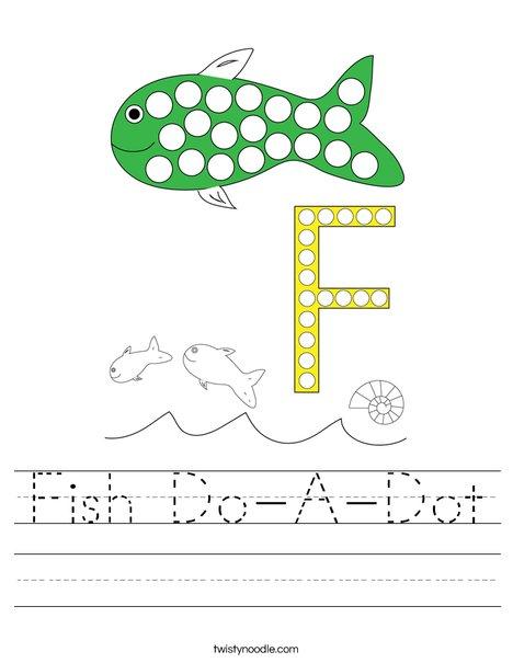 Fish Do-A-Dot Worksheet