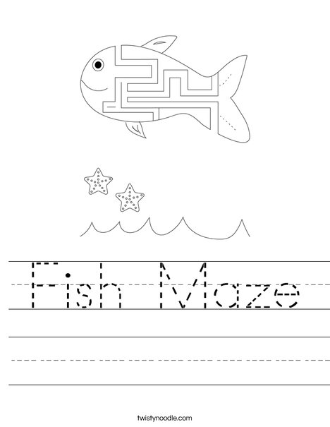 Fish Maze Worksheet