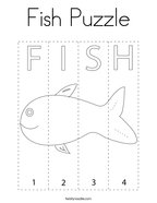 Fish Puzzle Coloring Page