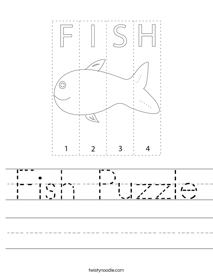 Fish Puzzle Worksheet