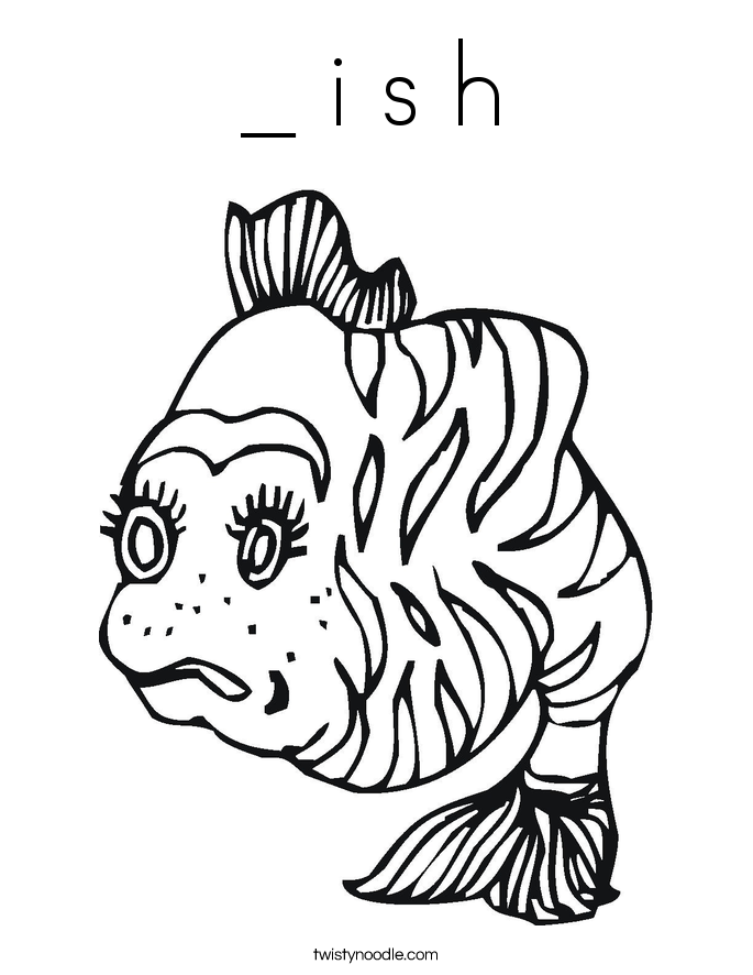 _ i s h Coloring Page