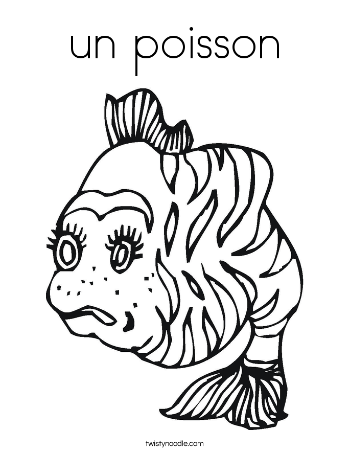 un poisson Coloring Page