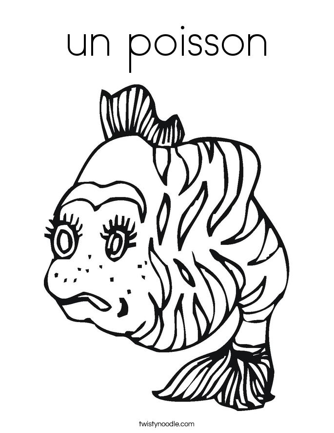un poisson Coloring Page
