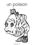 un poissonColoring Page