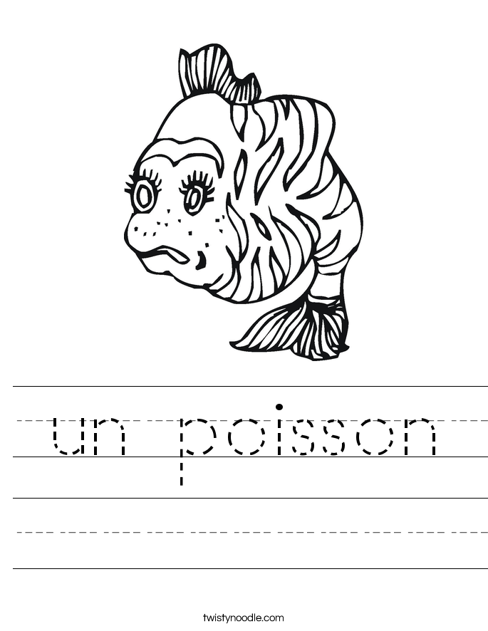 un poisson Worksheet