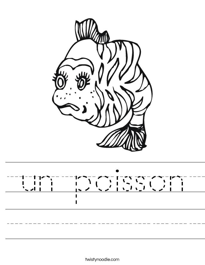 un poisson Worksheet
