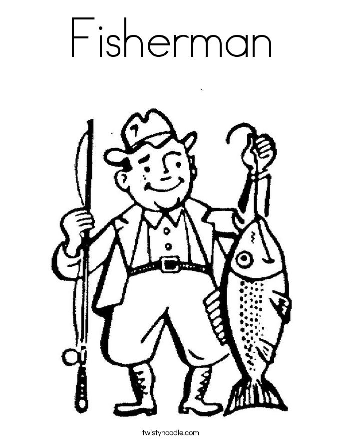 Fisherman Coloring Page