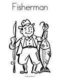 Fisherman Coloring Page