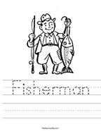 Fisherman Handwriting Sheet