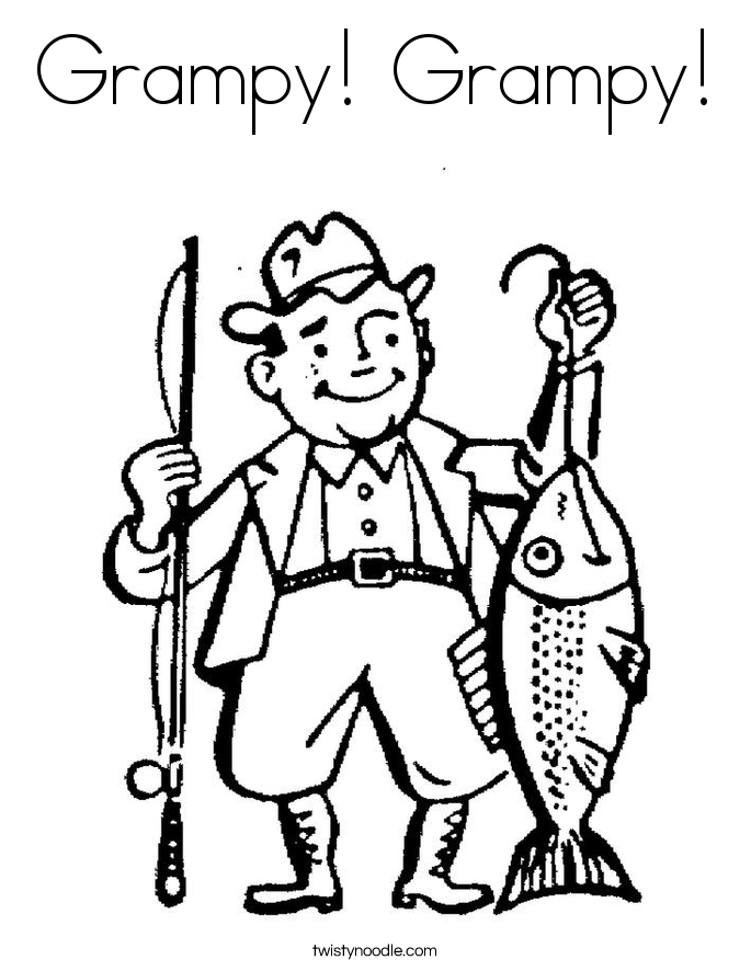 Grampy! Grampy! Coloring Page