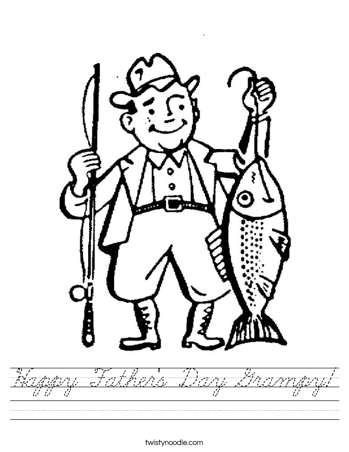 Happy Father's Day Grampy! Worksheet
