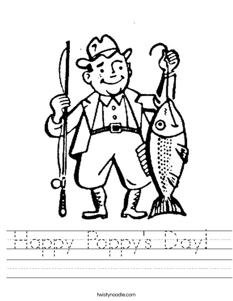 Fisherman Worksheet