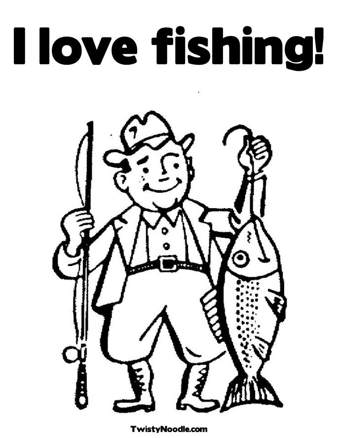 gone fishing colouring pages
