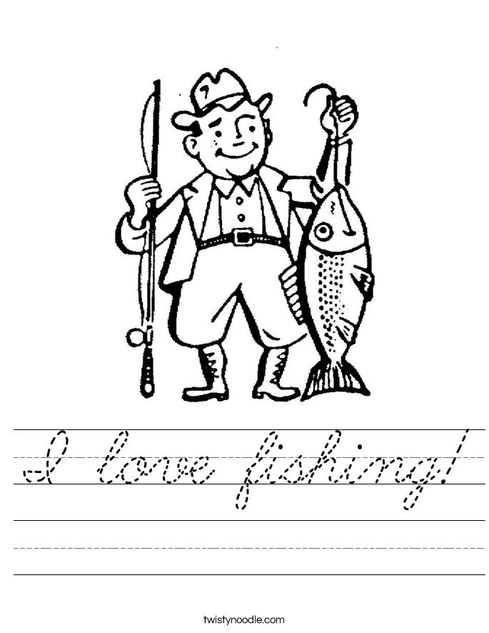 I love fishing! Worksheet