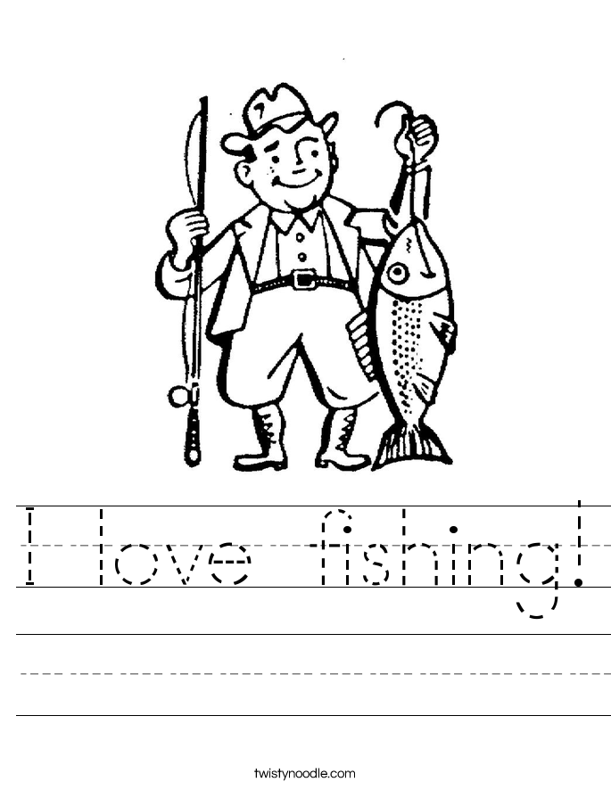 I love fishing! Worksheet