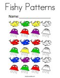Fishy Patterns Coloring Page