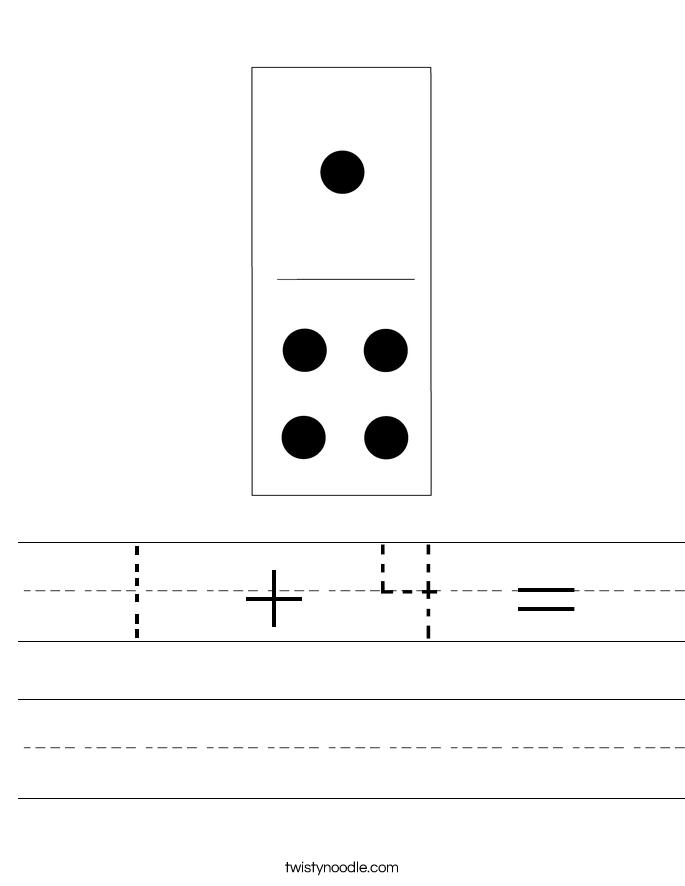 1 + 4 = Worksheet