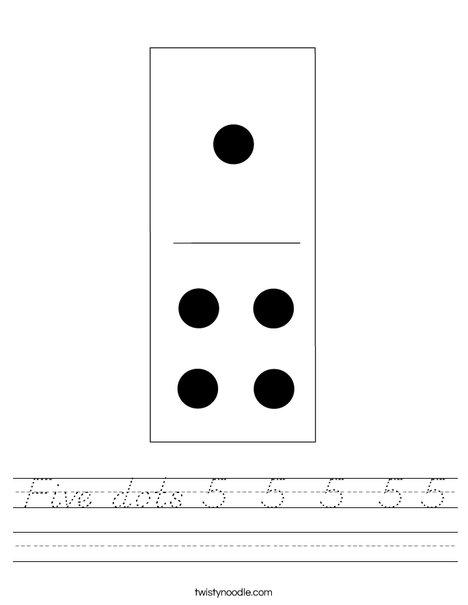 Domino Five Worksheet