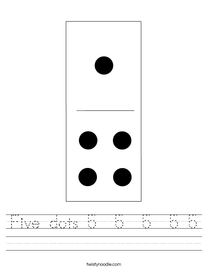Five dots 5  5  5  5 5 Worksheet