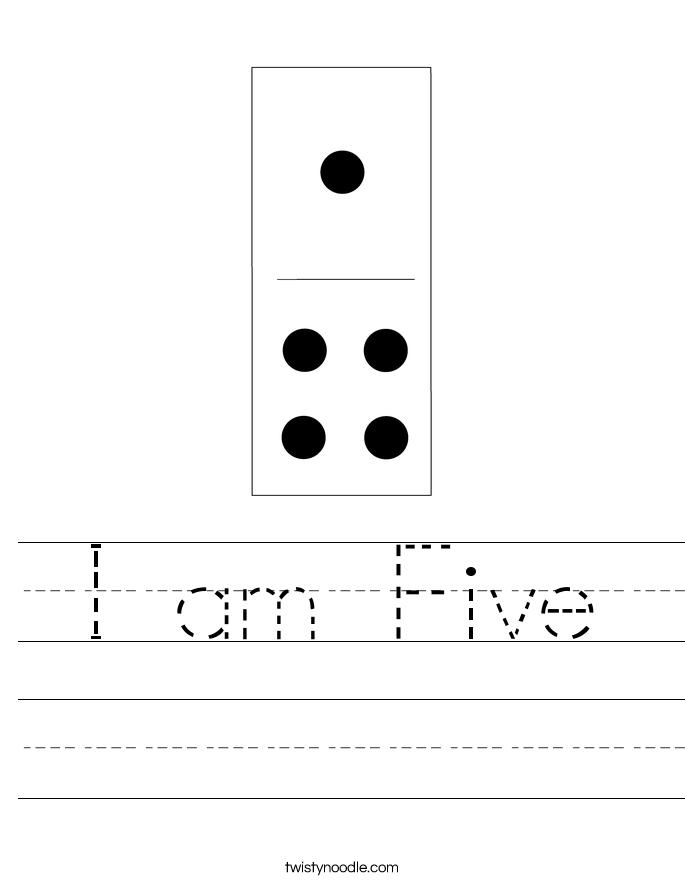 I am Five Worksheet