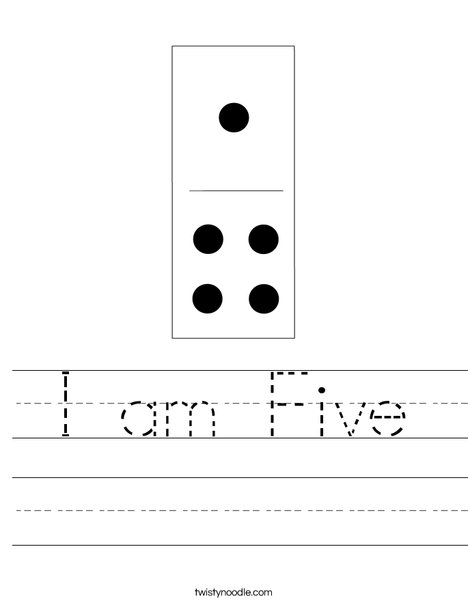 Domino Five Worksheet