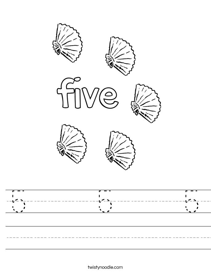 5     5     5 Worksheet