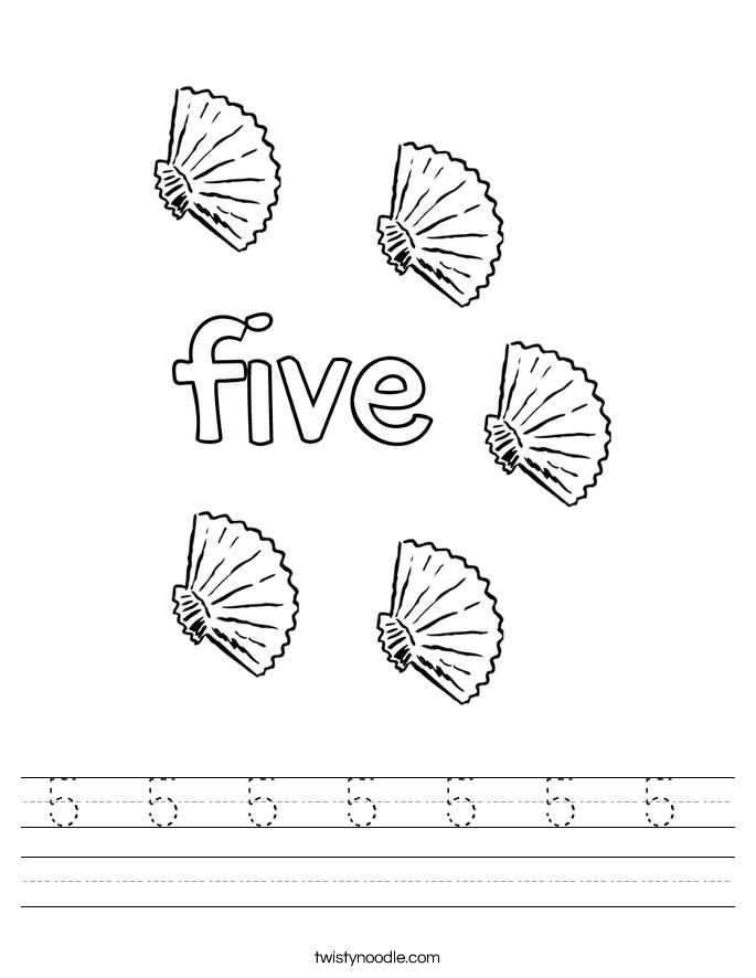 5  5  5  5  5  5  5  Worksheet