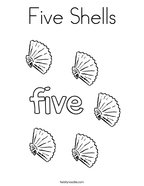 Five Shells Coloring Page