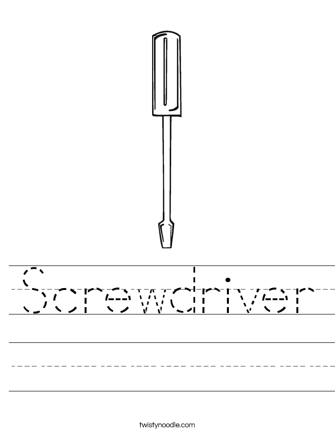 Screwdriver Worksheet