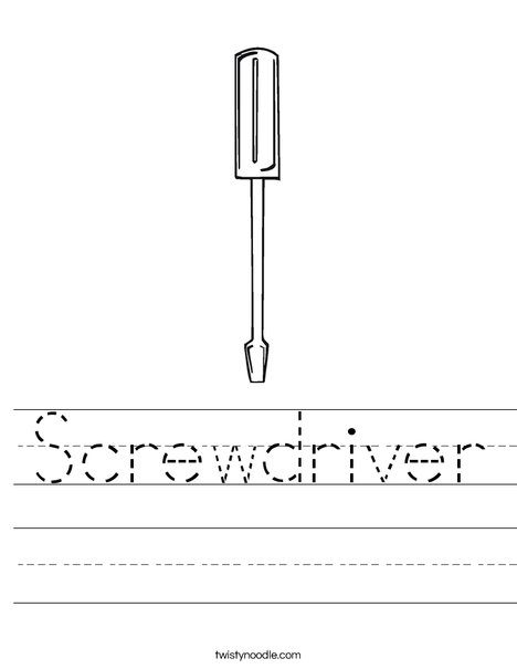 Flathead Screwdriver Worksheet