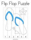 Flip Flop Puzzle Coloring Page