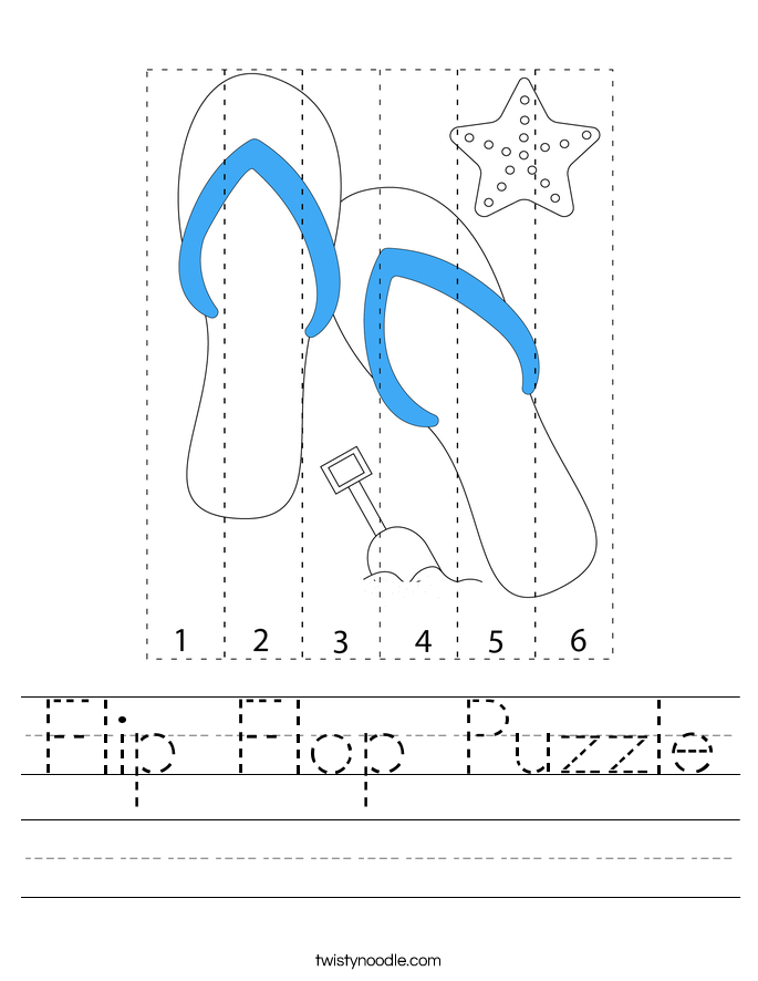 Flip Flop Puzzle Worksheet