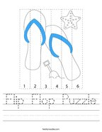 Flip Flop Puzzle Handwriting Sheet