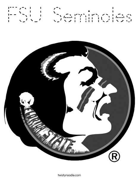 Florida State University Coloring Page