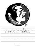 seminoles Worksheet