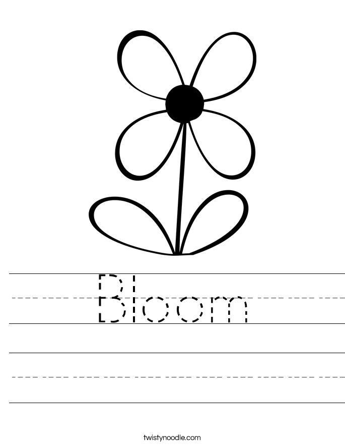 Bloom Worksheet