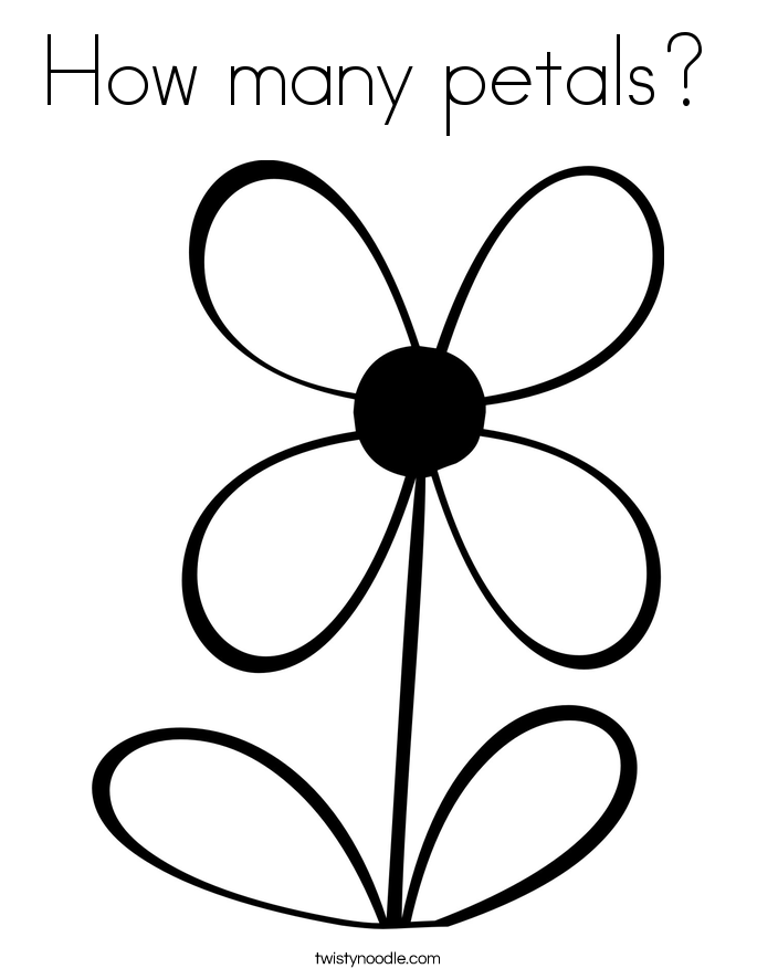 How many petals? Coloring Page