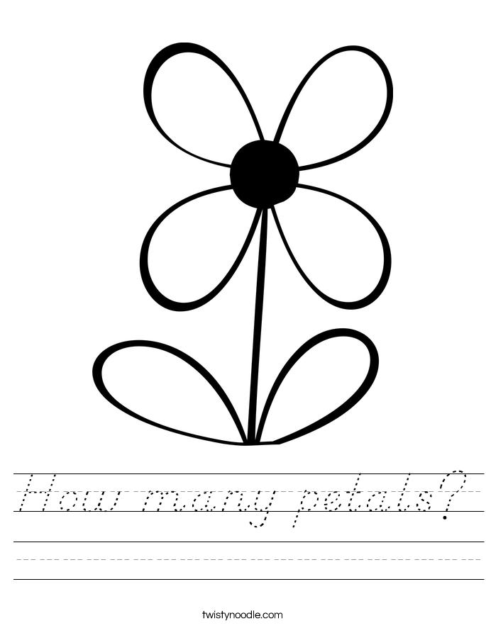 How many petals? Worksheet