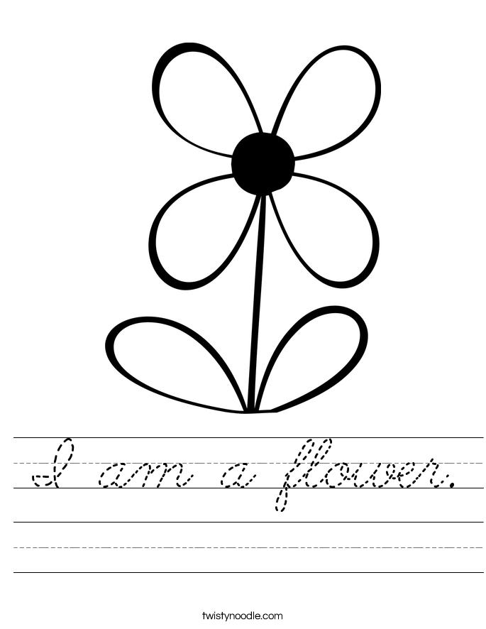 I am a flower. Worksheet