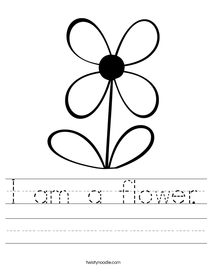 I am a flower. Worksheet