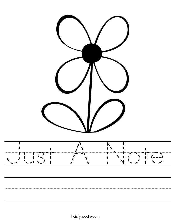 Just A Note Worksheet