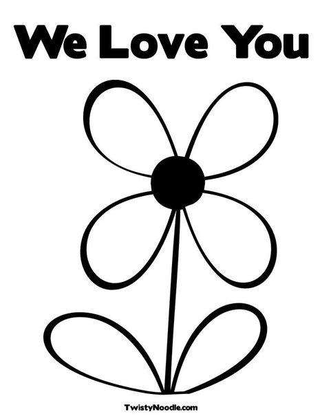 we love you coloring pages - photo#3