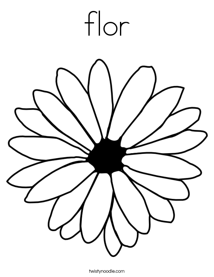 flor Coloring Page