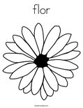 flor Coloring Page