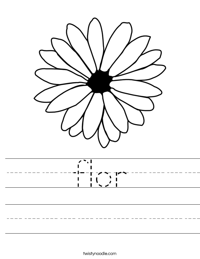 flor Worksheet