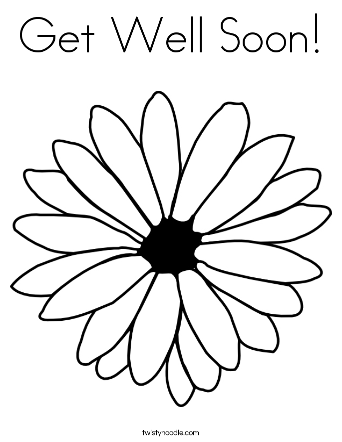 Get Well Soon Flowers Coloring Coloring Pages